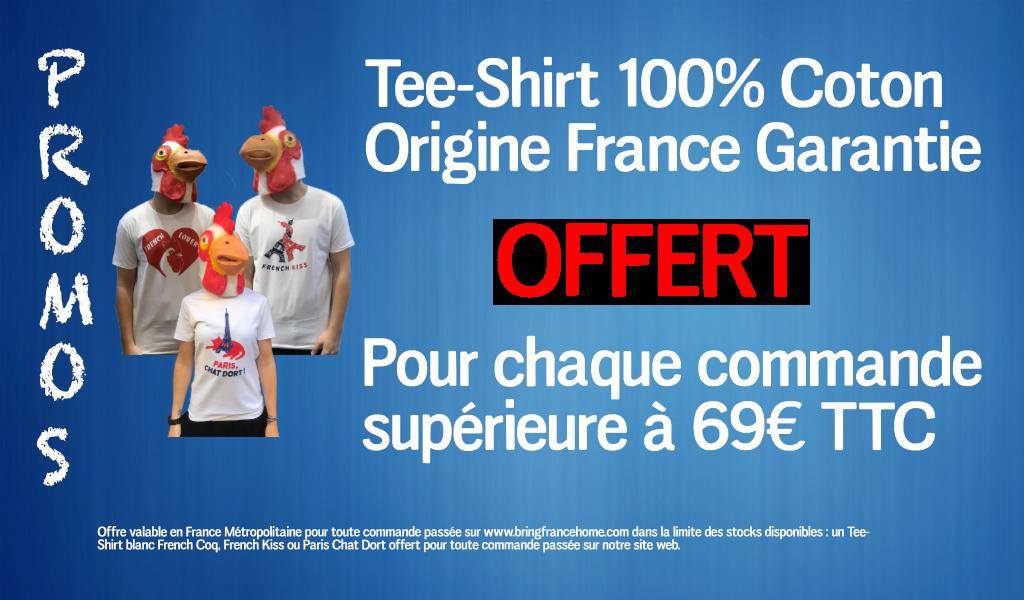 Promotion de l'été : Tee-shirt 100% Coton 100% Made in France Offert