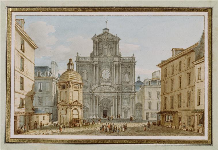 Victor-Jean Nicolle Eglise Saint Louis et Paul, fontaine de Birague, rue Saint-Antoine, à Paris