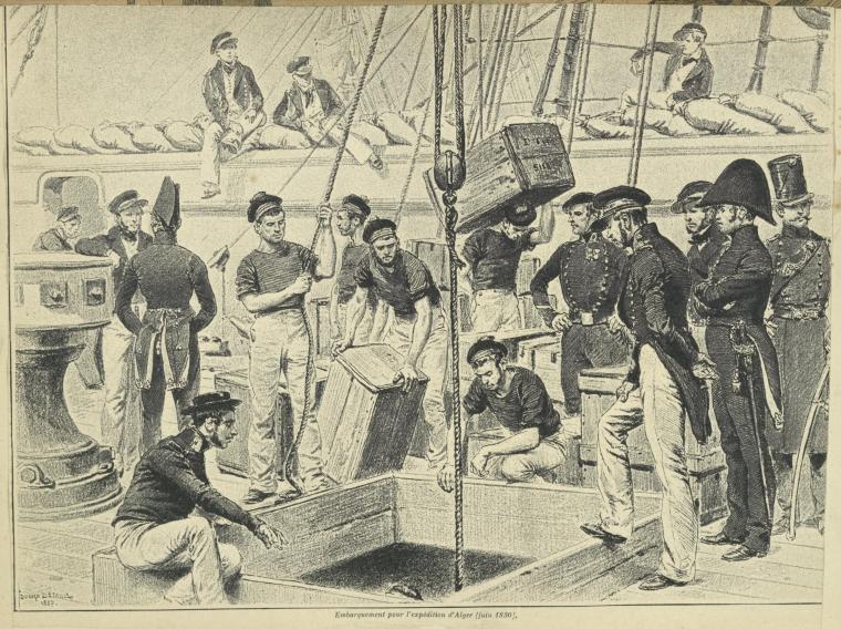Embarquement pour l'expédition d'Alger