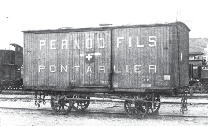 Railcar of Pernod Fils in Pontarlier